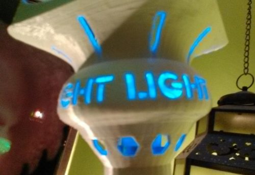 3D printed lampshade Light