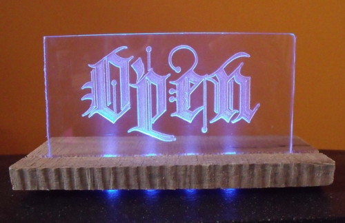 Acrylic Open sign with LEDs